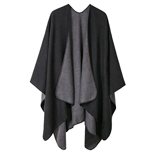 82adaec6476 Urban CoCo Women s Color Block Shawl Wrap Open Front Poncho Cape