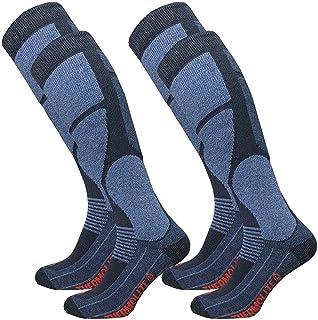 Paire de chaussettes de ski Gazilo Thermolite pour homme - Chaussettes de snowboard - Chaussettes fonctionnelles avec remb...