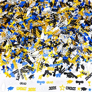 Konsait 2021 Graduation Confetti, Graduation Party Supplies, 2 Oz/ 1500 Pieces, Graduation Table Decorations, Gold, Black,...
