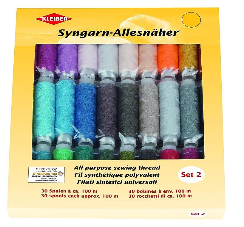 Kleiber 71059?Syngarn Thread Set 2?Fabric Sewing Multicolor, 6?X 1.5?cm