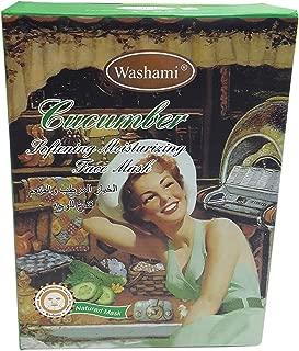 Washami Cucumber Softening Moisturizing Face Mask, 28gX10PCS