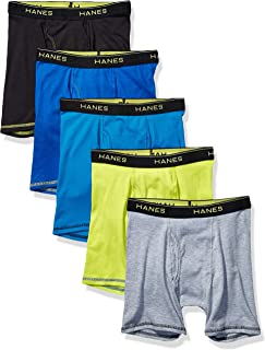Hanes Boys' Lightweight Mesh Boxer Briefs 5-Pack