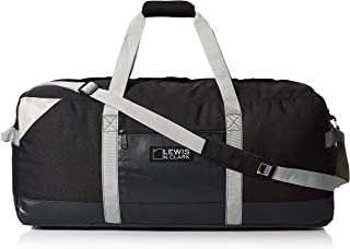 Lewis N. Clark Heavy Duty Duffel Bag for Women + Men, Carry On, Gym, Daypack, Ditty & Travel backpack Alternative W/neoprene Gear Sack, 30IN - Black, One Size