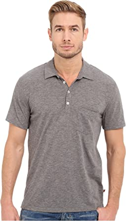 7 For All Mankind Short Sleeve Raw Placket Polo