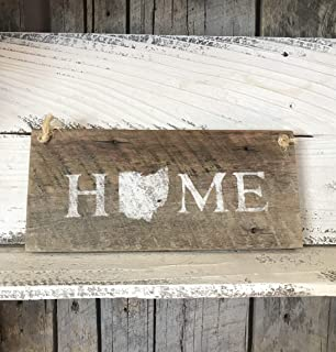 Ohio State Home Barn Wood Plaque