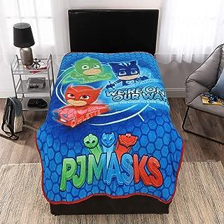 Entertainment One PJ Masks Character Kids Bedding Ultra Soft Plush Throw, Blue