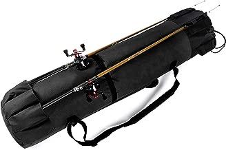 Huntvp Fishing Rod Reel Case Bag Organizer Travel Carry Case Carrier Holder Pole Tools Storage Bags