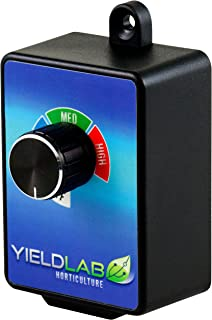 Yield Lab In-Wall Variable Fan 3 Speed Controller for Grow Tent and HVAC Intake and Exhaust Duct Fan Ventilation System