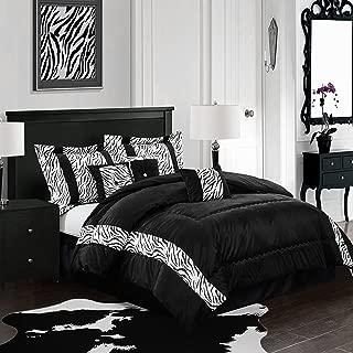 Stratford Park Safari Comforter, King, Black