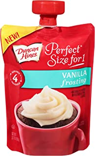Duncan Hines Perfect Size for 1 Vanilla Frosting, 3.7 oz. Pouch (Pack of 8)