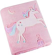 Glow in The Dark Unicorn Blanket – Soft Pink Fleece Throw. Great Christmas, Birthday,..