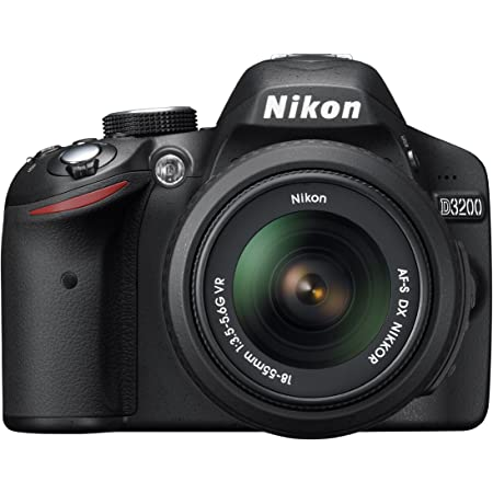 Nikon デジタル一眼レフカメラ D3200 レンズキット AF-S DX NIKKOR 18-55mm f/3.5-5.6G VR付属 ブラック D3200LKBK