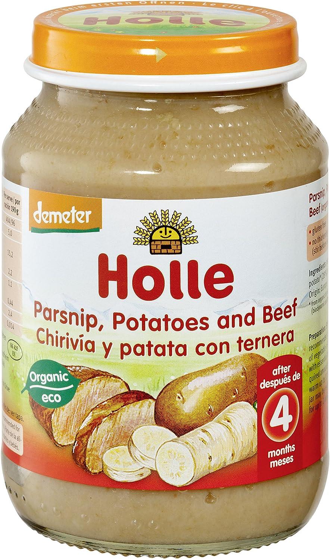Holle Potito de Chirivía, Patata con Ternera (+4 meses) - Paquete de 6 x 190 gr - Total: 1140 gr