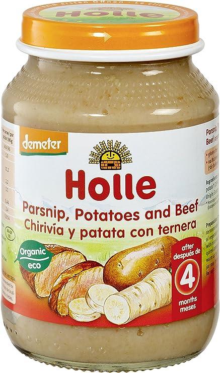 Holle Potito de Chirivía con Patata (+4 meses) - Paquete de 6 x 190 gr - Total: 1140 gr