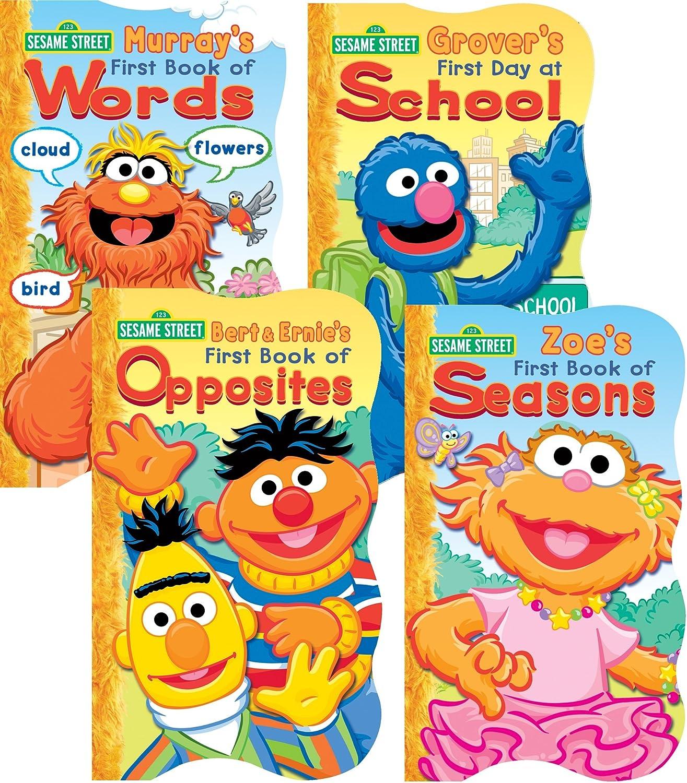 Sesame Street 4 Board Book Set
