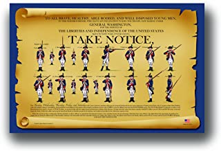 Yellow Beard Creations General Washington's Call to Arms - Placemat Rendition of 'Take Notice' Revolutionary War Recruitment Poster for Kids
