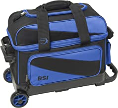 BSI Double Roller Bowling Bag, Black/Blue