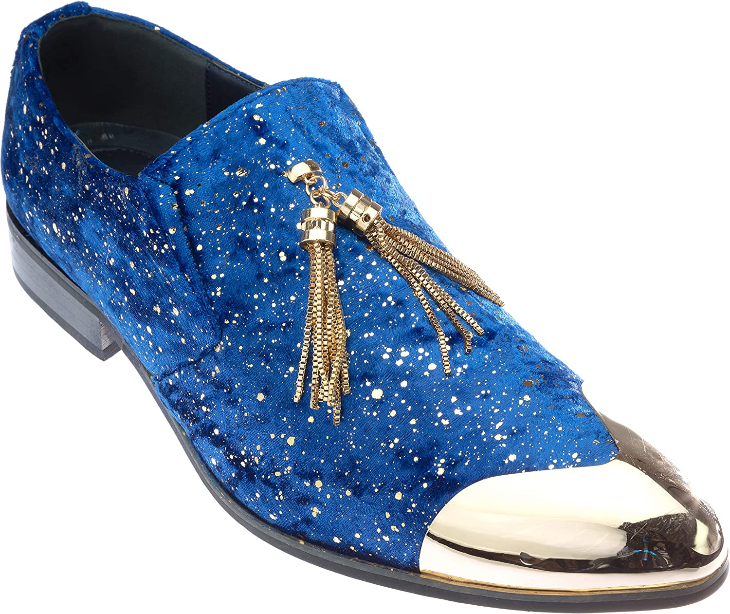 Ronaldinho herr Slip -on mode -Loafer -Loafer -Loafer Sparkling -Glitter Dress -skor  köpa rabatter