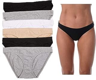 Bikini Panties for Women Comfortable Cotton Panty (6 Pack)