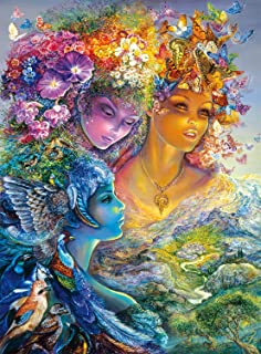 Buffalo Games The Three Graces Glitter Edition by Josephine Wall Jigsaw Puzzle (1000 Piece)