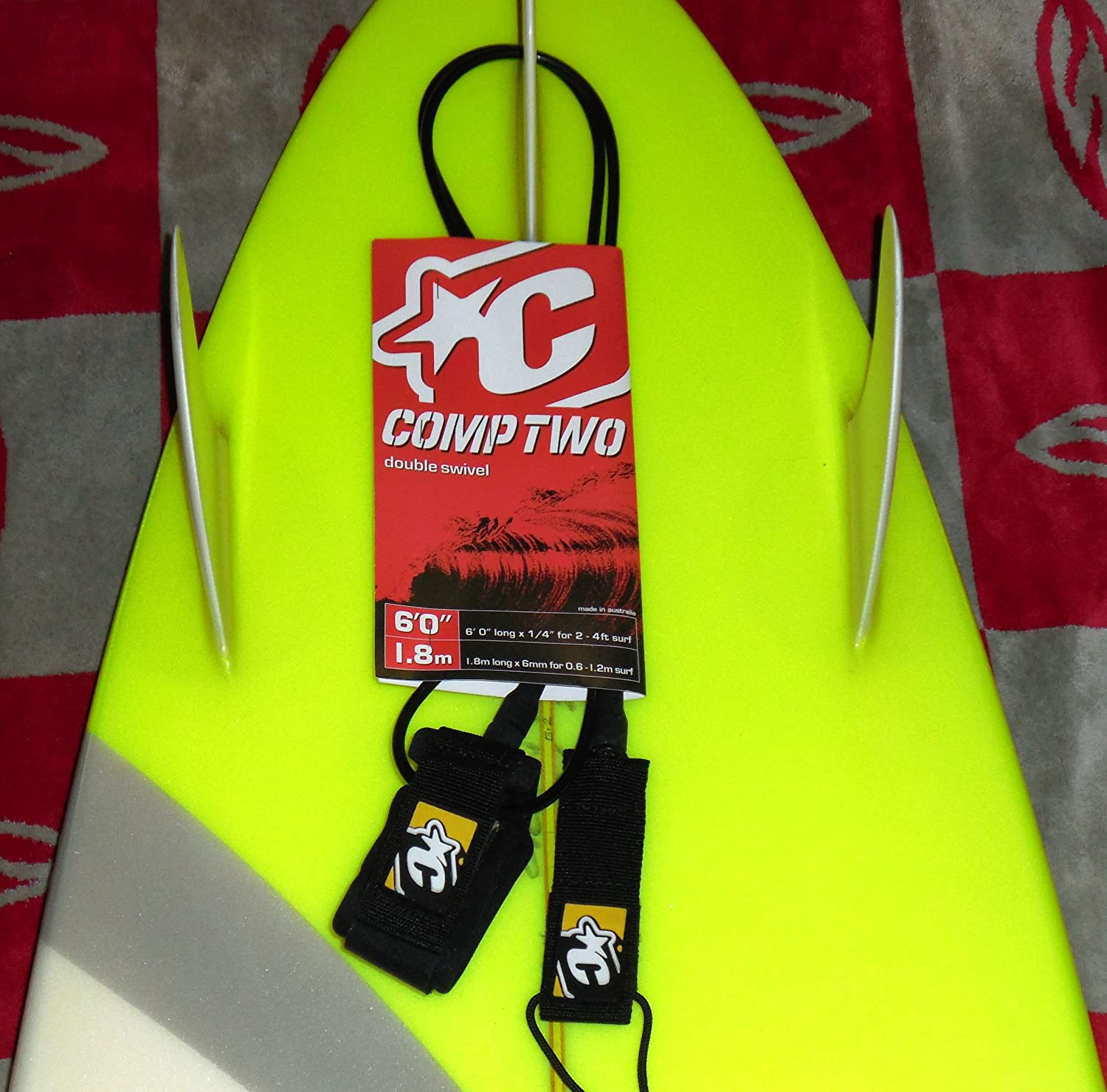 New Orleans Gifts Mall Creatures of Leisure Surfboard Leash - Le Two Comp Designed Team