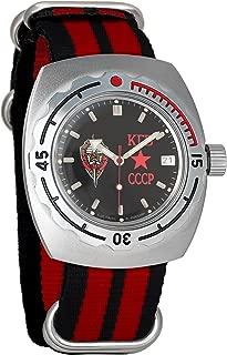 Vostok Amphibian Automatic Mens Wristwatch Self-Winding Military Diver Amphibia Case Wrist Watch #090457 KGB