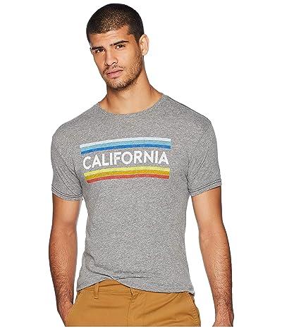 The Original Retro Brand Vintage California Stripe Tri-Blend Tee (Streaky Grey) Men