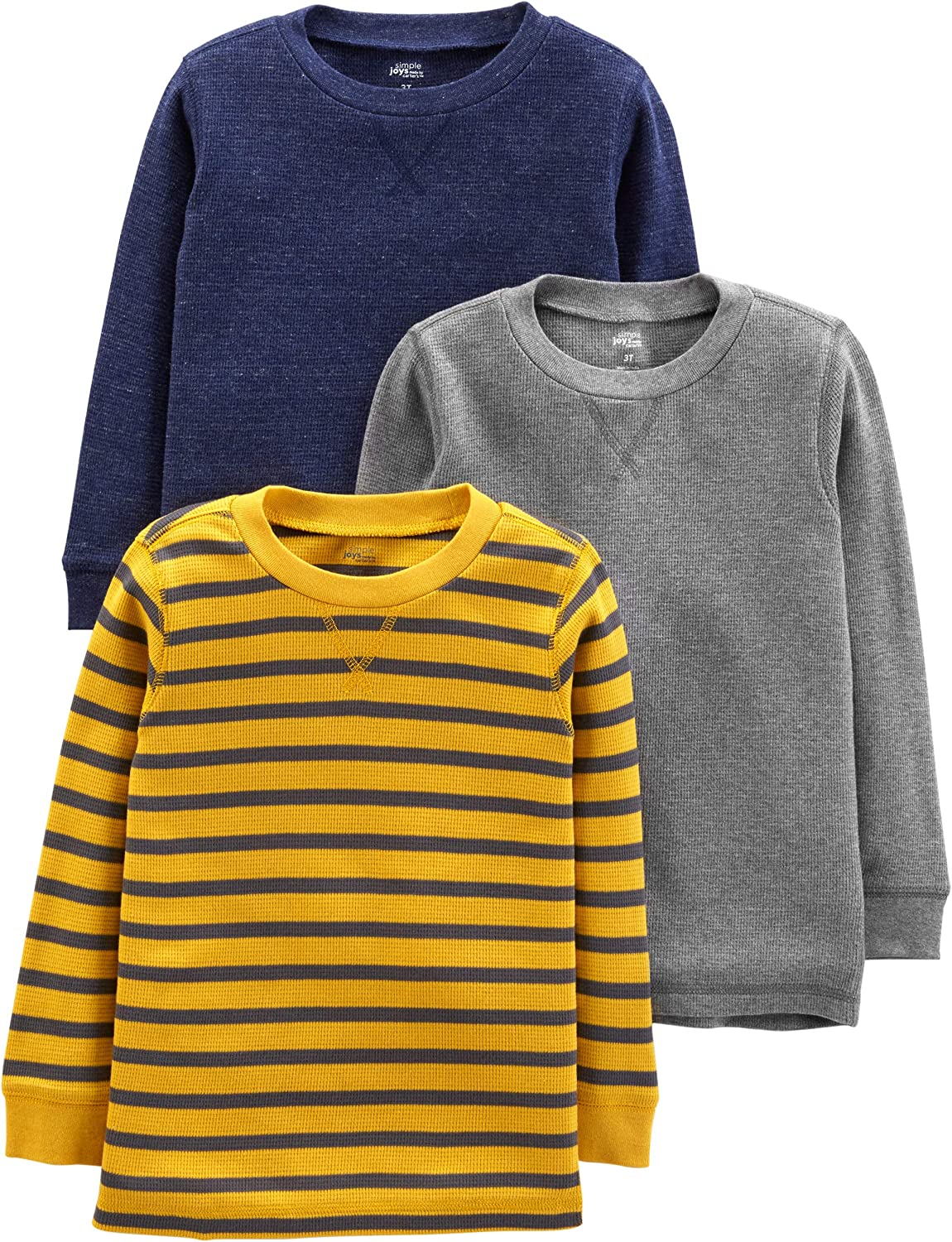 Simple Joys by Carter's Boys' 3-Pack Thermal Long Sleeve Shirts
