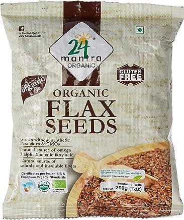 24 Mantra Organic Flax Seeds, 200g