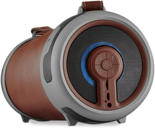 Imperial 22 9066 00 Beatsman 2 Mobiler Bluetooth 2 1 Lautsprecher Mit Ukw Radio Microsd Kartenleser Aux Eingang Braun Audio Hifi
