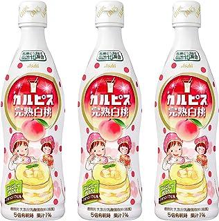 アサヒ飲料 カルピス 完熟白桃 プラスチックボトル 470ml ×3本