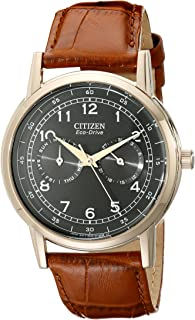 Citizen Men's Eco-Drive Rose-Gold Stainless Steel Watch with Day/Date, AO9003-08E