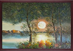 """ArtistBe Moon Reproduction Framed Oil Painting, 38.5"""" x 26.5"""", Multi"""