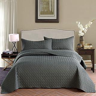 Exclusivo Mezcla 3-Piece King Size Quilt Set with Pillow...