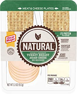 Oscar Mayer Natural Honey Smoked Turkey & Asiago Meat & Cheese Plate (3.3 oz Tray)