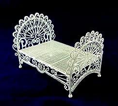 Vanity Fair Muebles Para Casa De Mu/ñecas hierro labrado Blanco Cesta Colgante Silla