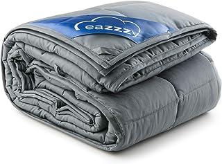 Genius eazzzy Gewichtsdecke 155x220 cm 12kg - Therapiedecke mit Glasperlen für Erwachsene gegen Schlafstörung Anti Stress - Bettwäsche schwer Weighted Blanket besseres Schlafen