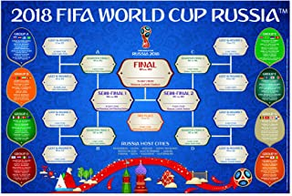 FIFA The Official Licensed World Cup Wallchart   Russia 2018