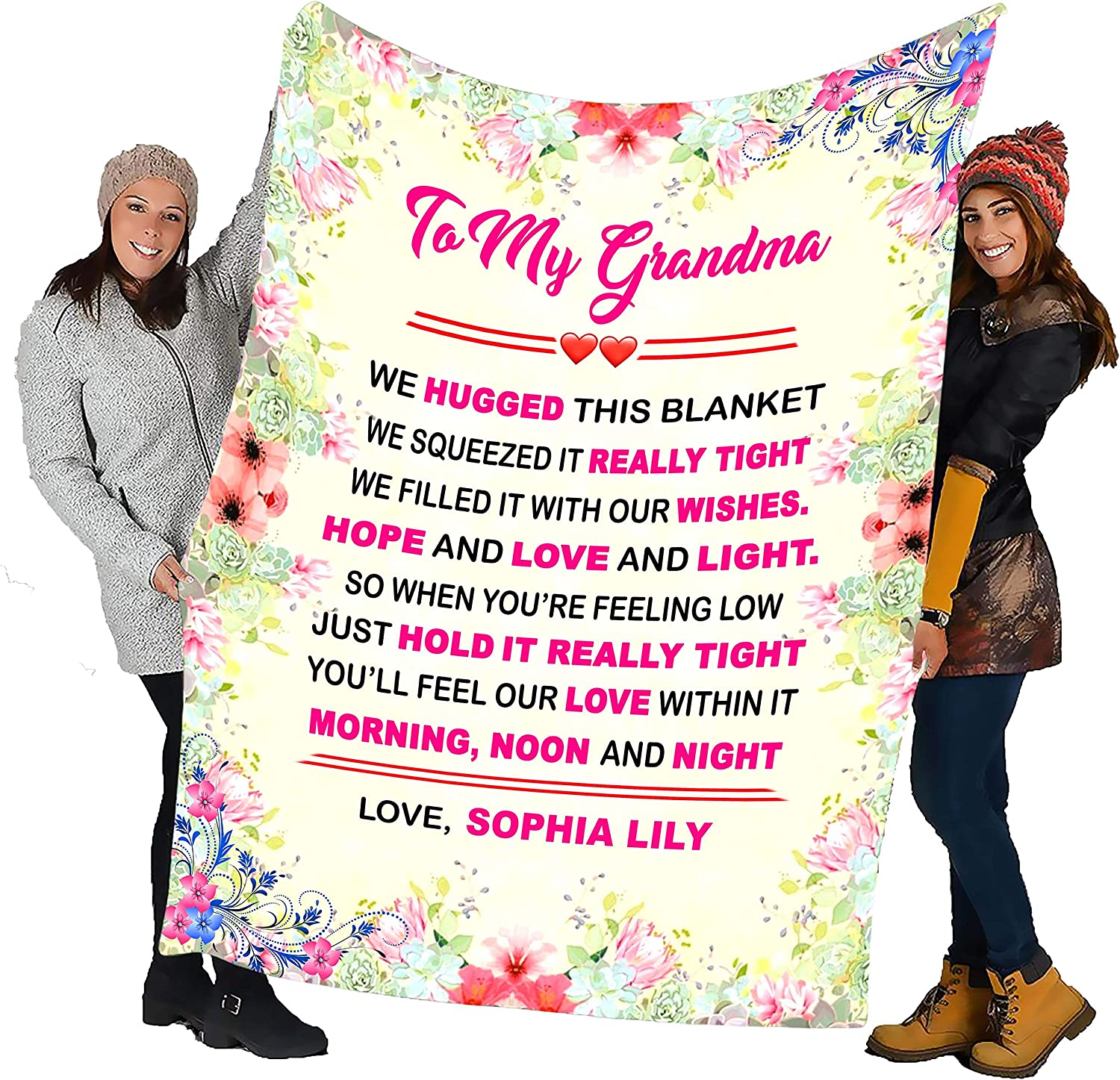 Grandma We Hugged This Super beauty product restock quality top Personalized ! Super beauty product restock quality top! for Blanket Grandpa