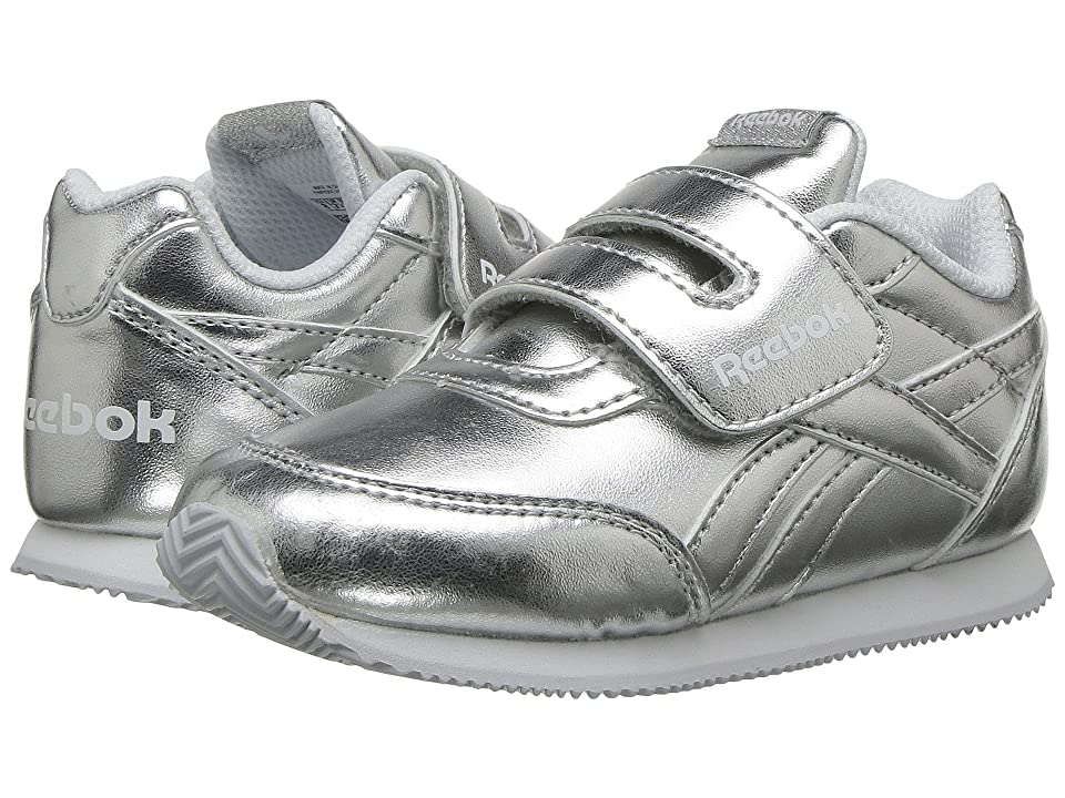 Reebok Kids Royal CL Jogger 2 KC (Toddler) (Silver Metallic/White) Girls Shoes