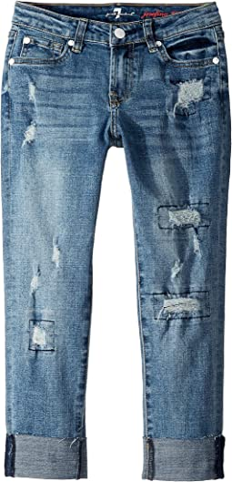 Josefina Stretch Denim Jeans in Vintage Muse (Big Kids)