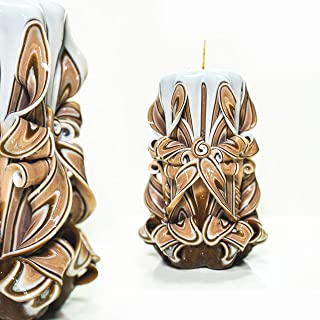 Candles Gift and Gift Hand Carving Candle or Decoration. Handmade Henley Carved Candles