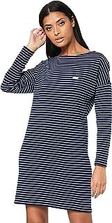 Lacoste Women's Long Sleeve Stripe Dress, Blue/Flour