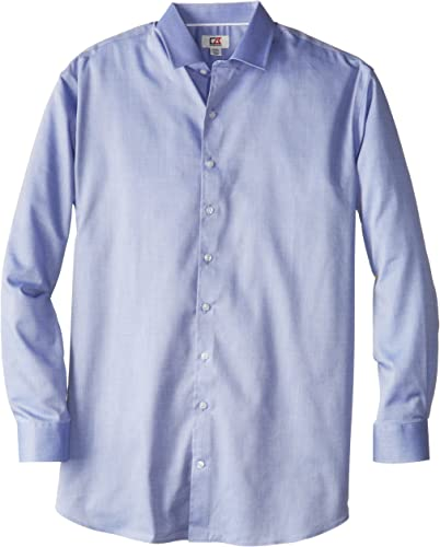 Cutter & Buck Hommes's Big-Tall Epic Easy voituree Mini Herbaguebone Shirt, bleu, X-grand Tall