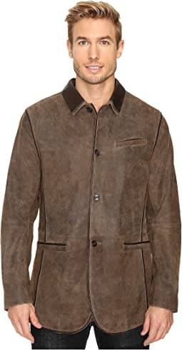 Scully - Manor Mansion Goatskin Leather Elbow Patch Blazer