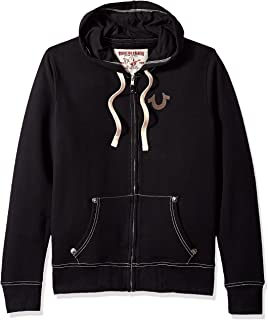 True Religion Men's Buddha Logo Zip Hoodie