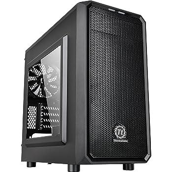Thermaltake H15 Versa - Case per PC Micro ATX  e Mini ITX, con Pannello laterale trasparente, Nero