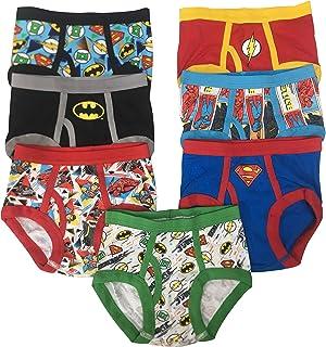32c6098f1469 Superman Batman Green Lantern Flash Justice League DC Boys Power Pack 100%  Cotton 7 Pack