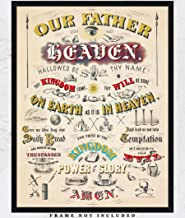 Vintage Our Father Who Art in Heaven Wall Art Print: Unique Room Decor for Boys, Men, Girls & Women - (11x14) Unframed Picture - Great Gift Idea Under $15