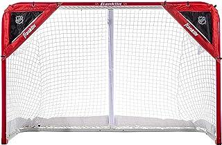 Kapler Foldable Hockey Goal,6 x 4 Steel Hockey Net Professional Street Hockey Shooting Targets with Red Frame and White Netting Square